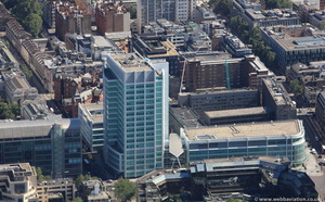 University College Hospital  London  from the air
