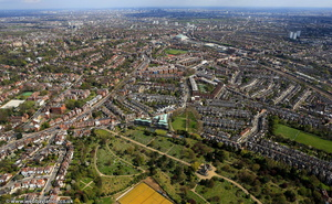 West Hampstead  London from the air