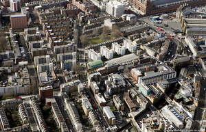 Grays Inn Rd Kings Cross London from the air