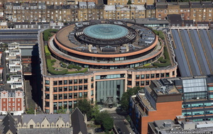 BNP Paribas Securities Services building   London from the air