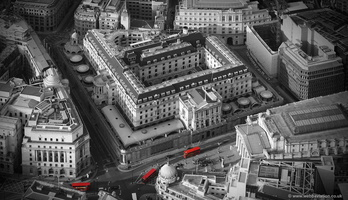 Bank of England  London England UK aerial photograph