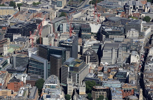 New Street Square & New Fetter Lane London from the air