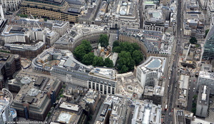 Finsbury Circus City of London England UK aerial photograph