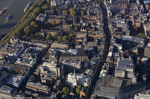 Fleet Street City of London England UK aerial photograph
