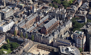 the Royal Courts of Justice in London from the air