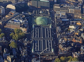 Smithfield Market London  from the air