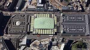 Smithfield Poultry Market London  from the air