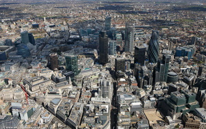 City of London England UK aerial photograph