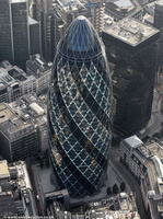 The Gherkin London from the air