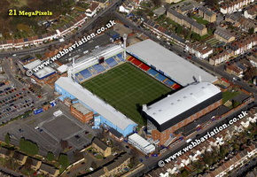 Selhurst Park football stadium  aerial photograph
