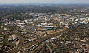 Oakwood Business park Ealing London aerial photo