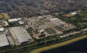 Deephams Sewage Treatment Works  from the air