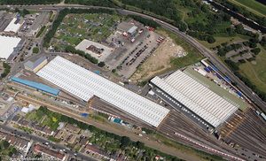 Northumberland Park Rail Depot   from the air