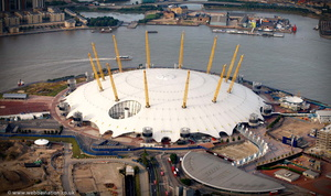 Millennium Dome  London England UK aerial photograph