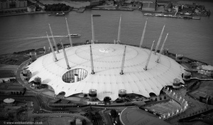 The O2 Arena / Millennium Dome from the air