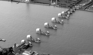 Thames Barrier from the air