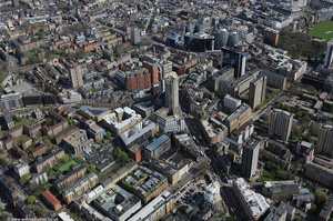 City Rd Hackney London England UK aerial photograph