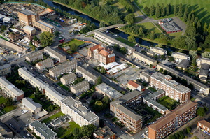 Clapton Hackney London  from the air