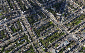 Hackney London England UK aerial photograph