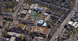 Clapton Girls Technology College Hackney from the air