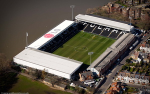 Craven Cottage   football stadium Fulham aerial photograph