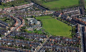 Belmont Junior School London from the air