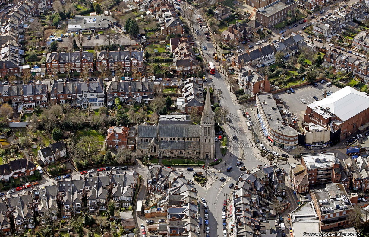 Muswell Hill London from the air