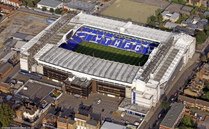 White Hart Lane football stadium in Tottenham aerial photograph