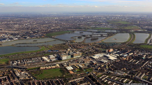 Tottenham Hale  London N15  from the air