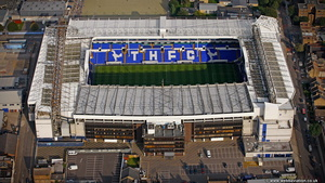 Tottenham Hotspur F.C.s White Hart Lane Stadium in  London England UK aerial photograph