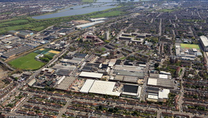 Triumph Trading Estate Tariff Rd London N17 0EB from the air