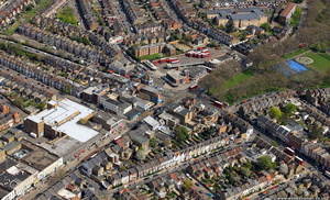 High Rd Wood Green , Hornsey, London from the air
