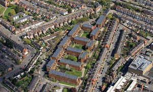 The Sandlings Estate Wood Green , London from the air