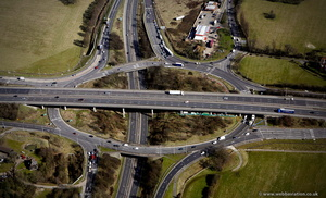 Brook Street Interchange of the M25 Motorway London  aerial photo