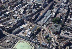 Farringdon tube station London from the air