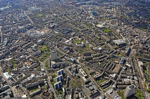 Finsbury Islington  London from the air