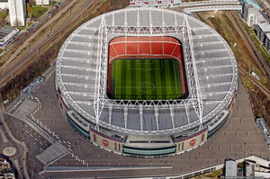 Emirates Stadium  London from the air