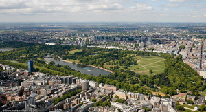 Hyde Park London from the air