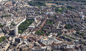Knightsbridge  from the air