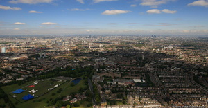 Clapham panorama from the air
