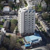 Edrich House Stockwell London from the air