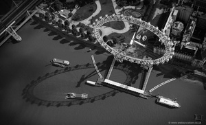 the London Eye from the air