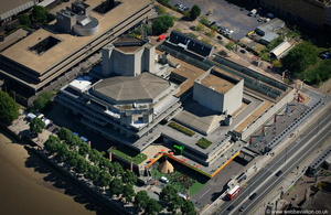 the National Theatre London  from the air