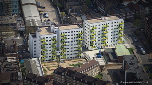 Skanska Printworks Apartments Coldharbour La Camberwell Lambeth London  from the air