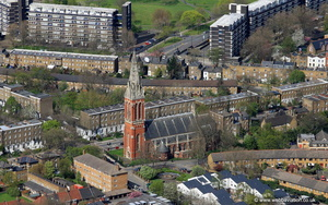 St John the Divine, Kennington, Anglican church Kennington London from the air