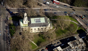 St Mark's Church Lambeth  London  from the air