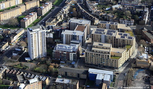 The Quadrant, Stockwell Green London from the air