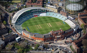 the Oval Cricket Ground London  from the air