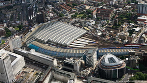Waterloo Station London from the air