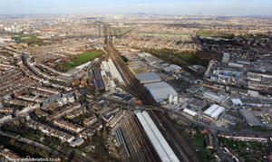 Wimbledon Traincare depot  from the air